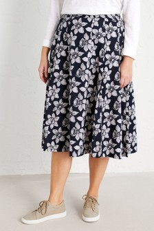 Seasalt Curve Blue Sea Mist Skirt