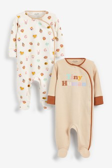 2 Pack Sleepsuits (0mths-2yrs)