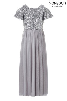Monsoon  Silver Jacinta Cold Shoulder Prom Dress