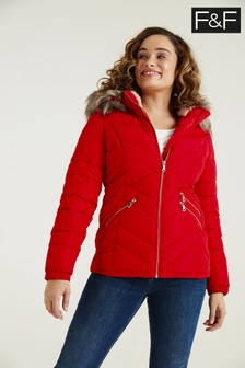 F&F Short Padded Red Coat