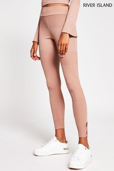 River Island Pink Medium Keyhole Detail Leggings
