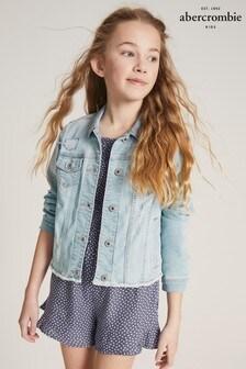 Abercrombie & Fitch Crop Denim Jacket