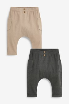 2 Pack Ribbed Jersey Joggers (0mths-3yrs)