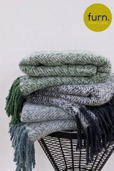 Furn Green Weaver Throw
