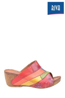 Riva Orange Manresa Summer Mules