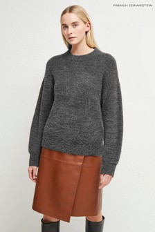 French Connection Grey Rufina Knits Crew Neck Jumper