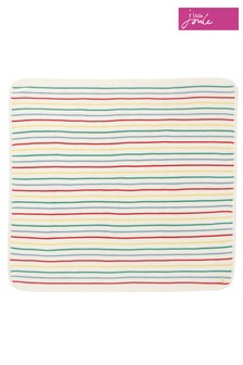 Joules White The Knitted Blanket