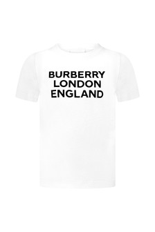 Burberry Kids Girls Cotton Logo T-Shirt