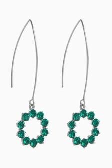 Jewel Pull-Through Earrings
