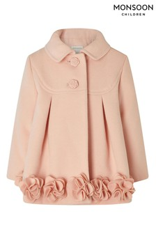 Monsoon Pink Baby Ava Coat