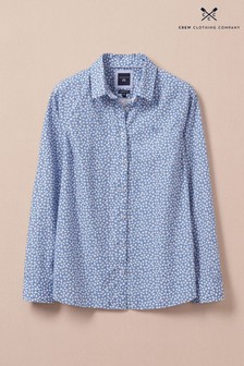 Crew Clothing Blue Lulworth Poplin Shirt