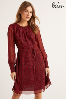 Boden Red Blossom Dress