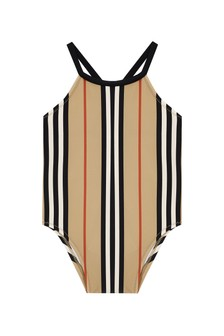 Baby Girls Beige Swimsuit