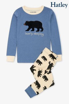 Hatley Blue/Black Bears Kids Appliqué Pyjamas Set