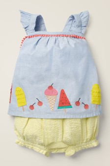 Boden Blue And Yellow Flutter Appliqué Play Set