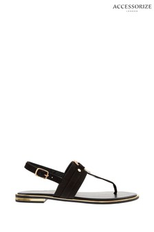 Accessorize Black Ring Detail Sandals
