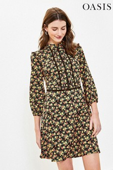 Oasis Natural Ditsy Floral Skater Dress