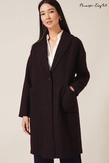 Phase Eight Port Sally Shawl Collar Knit Coat