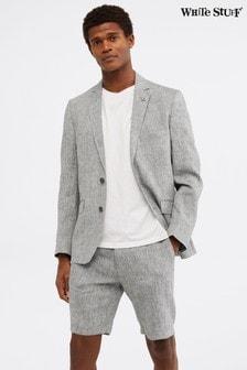 White Stuff Grey Northcote Linen Shorts