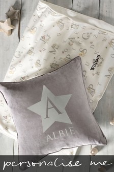 Personalised Children's Name Velour Cushion