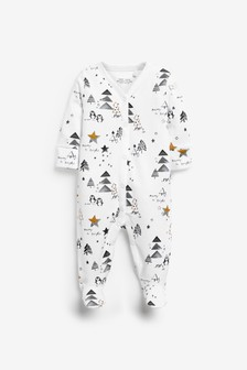 Christmas Penguin Sleepsuit (0mths-2yrs)