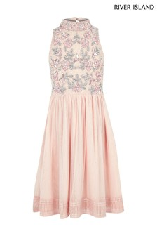 River Island Pink Emily Prom Occasion Dress
