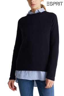 Esprit Blue Cotton Blend Jumper