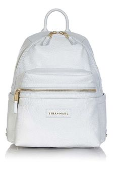 Tiba + Marl Pale Grey Miller Baby Changing Backpack