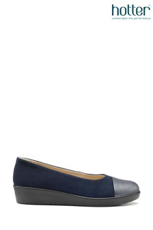 Hotter Blue Angel Slip-On Wedge Shoes