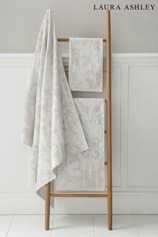 Laura Ashley Dove Grey Josette Towel