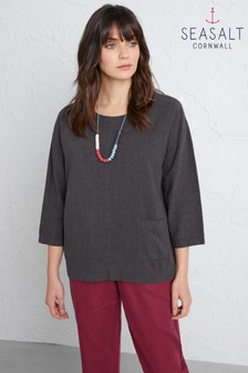 Seasalt Grey Sunset Gazing Top