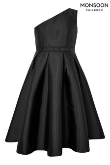 Monsoon Connie Black One Shoulder Prom Dress
