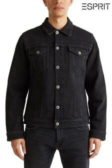Esprit Blue Denim Jacket With Pockets Front