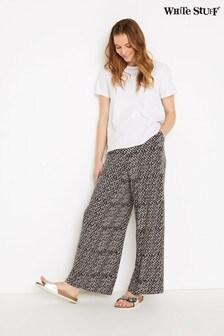 White Stuff Grey Bagdale Jersey Wide Leg Trousers