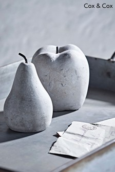 Cox & Cox Concrete Apple & Pear Ornaments