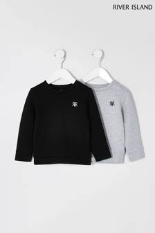 River Island Grey Sweat Tops Two Pack