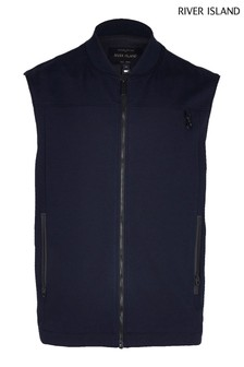 River Island Navy Commuter Smart Gilet