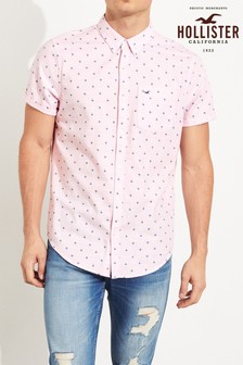 Hollister Pink Geo Shirt