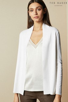 Ted Baker Cream Katiiey Woodland Woven Back Cardigan