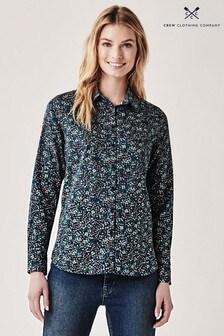 Crew Clothing Company Blue Lulworth Poplin Shirt