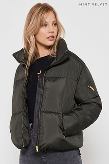 Mint Velvet Black Short Padded Coat