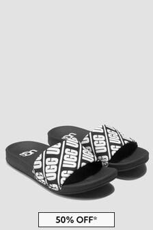 UGG Kids Black Sliders