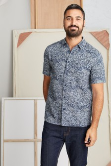 Seasalt Blue Men's Heron Shirt