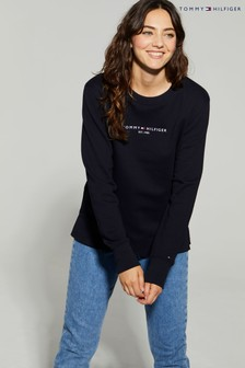 Tommy Hilfiger Blue Essential Logo Sweatshirt