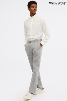White Stuff Grey Northcote Linen Trousers