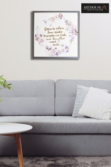 Love Resides Slogan Frame by Arthouse