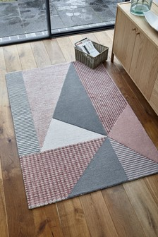 Pink Triangles Rug
