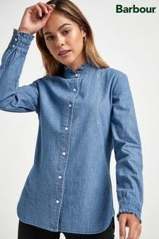 Barbour® Heritage Denim Lightweight Ruffle Collar Shirt