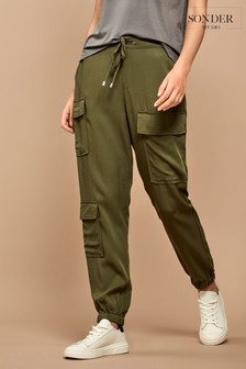 Sonder Studio Green TENCEL™ Cargo Trousers