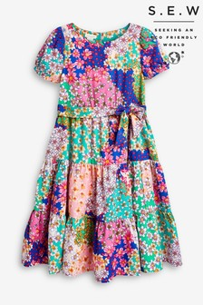 Monsoon Pink S.E.W Winnie Ditsy Floral Dress